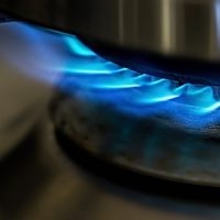 Hot Energy Flame Blue Gas Stove Cooking Heat